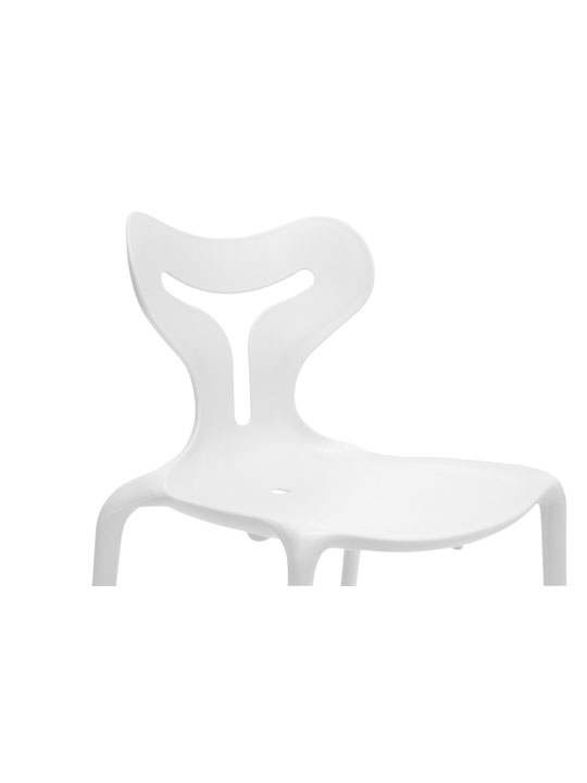 White Plastic Y Chair