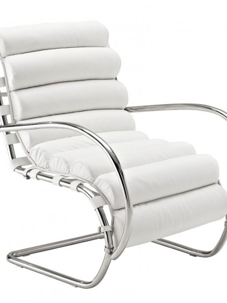 White Plush Armchair 461x614