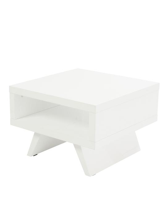 White Retromod Side Table 2