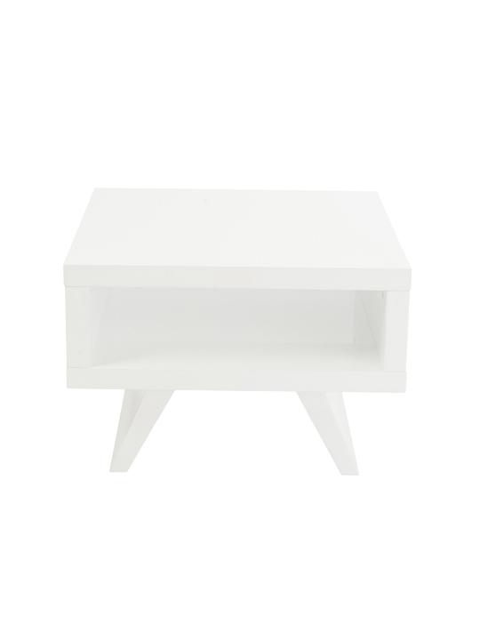White Retromod Side Table