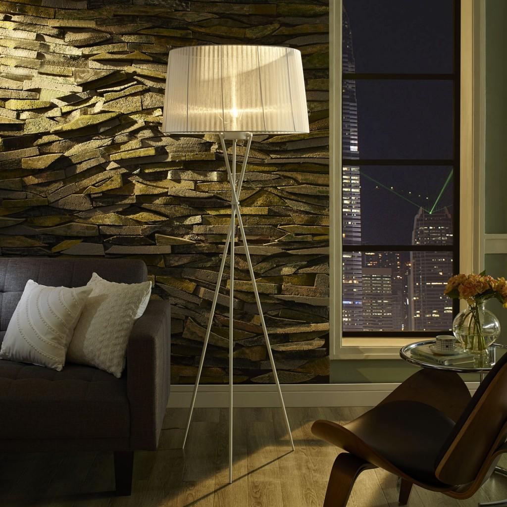 White Silk Floor Lamp 4