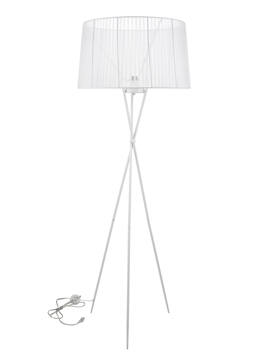 White Silk Floor Lamp1