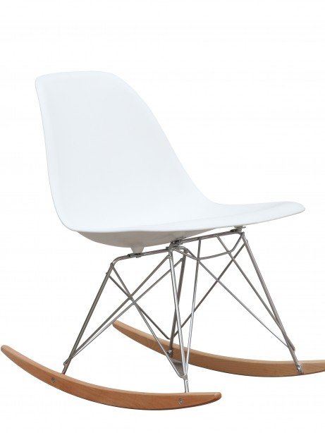 White Solo Rocking Chair 461x614
