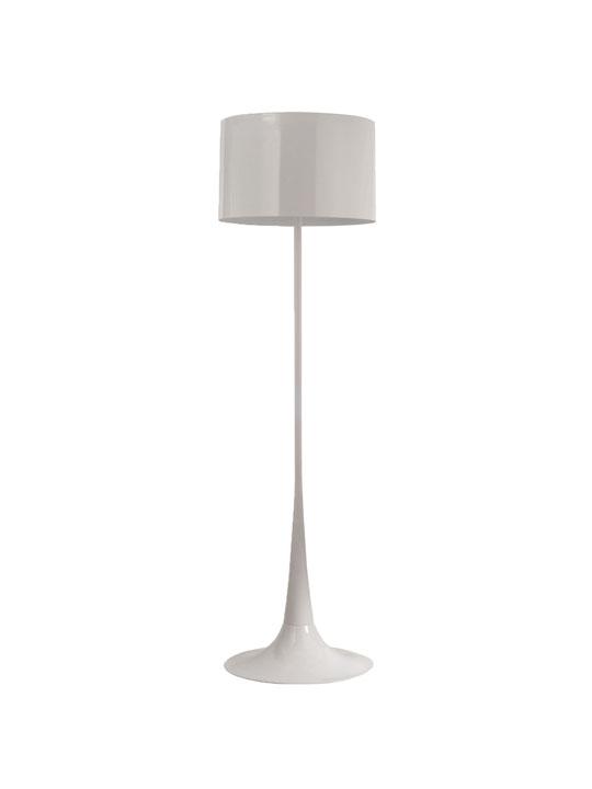 White Top Floor Lamp