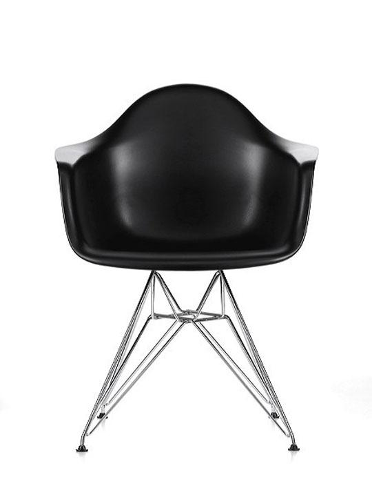 Wire Chrome Chair Black 3