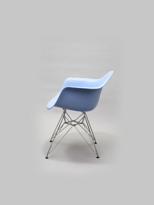 Wire Chrome Chair Blue 2