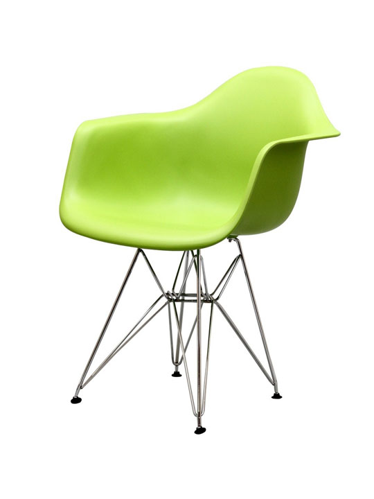 Wire Chrome Chair Green 2
