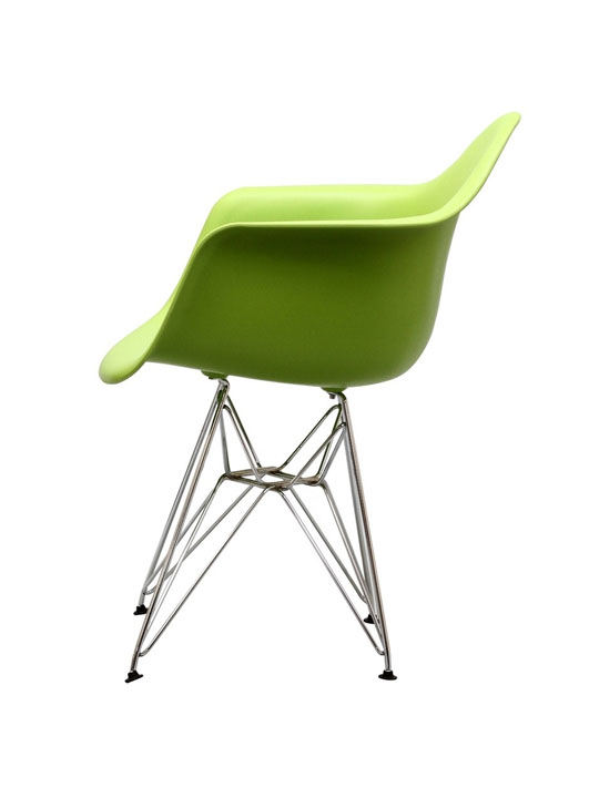 Wire Chrome Chair Green 4