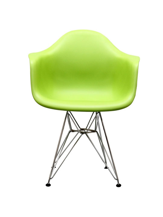 Wire Chrome Chair Green