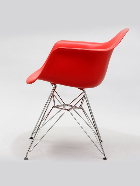 Wire Chrome Chair Red 3