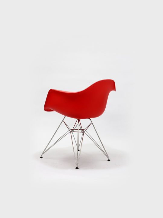 Wire Chrome Chair Red 4