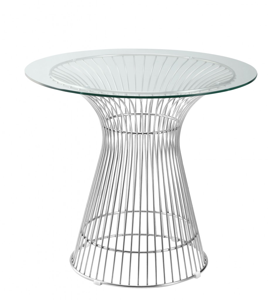 Wired In Wire Glass Dining Table