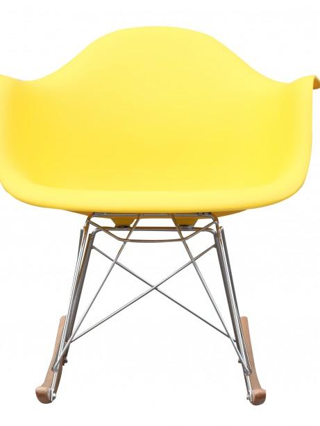 Yellow Mid Century Rocking Chait Dock Rocker 2 461x614