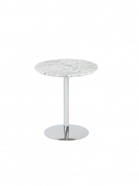 York Marble End Table Chrome Base 461x614