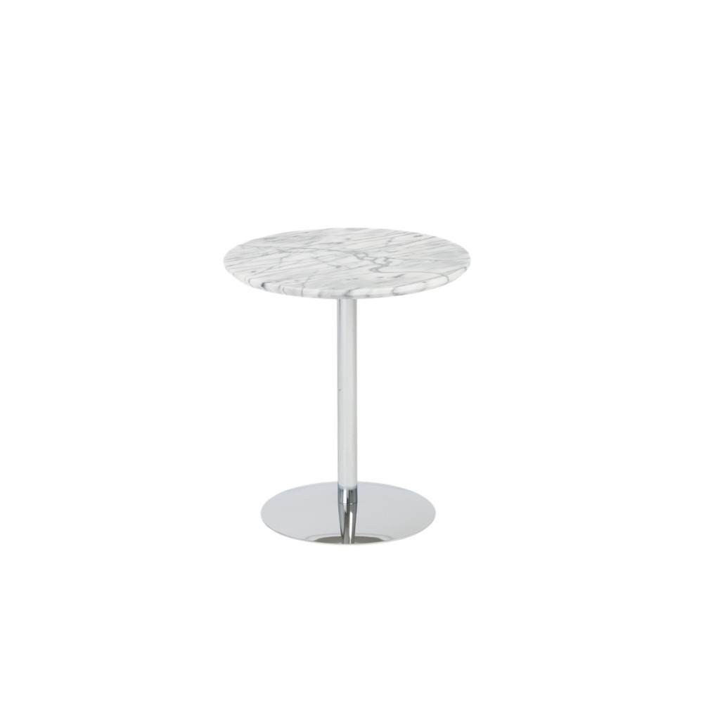 York Marble End Table Chrome Base