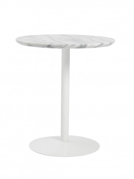 York Marble End Table White Base 2 461x614