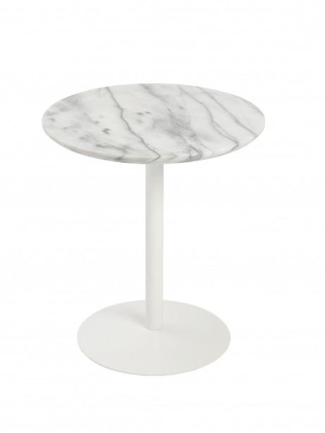 York Marble End Table White Base 3 461x614