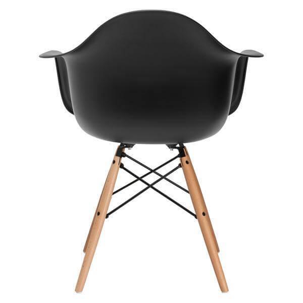 black armchair modern