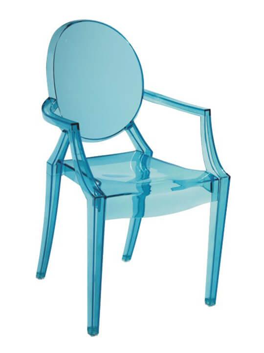 blue kids throne chair