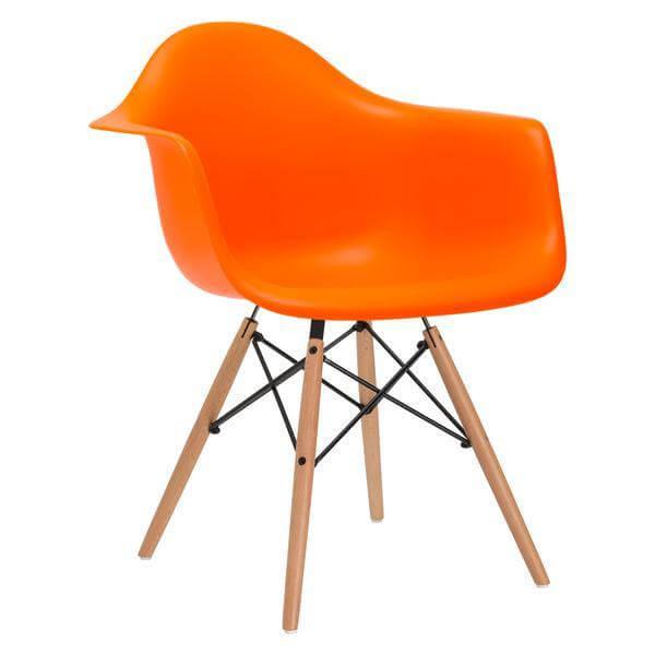 ceremony wood armchair orange