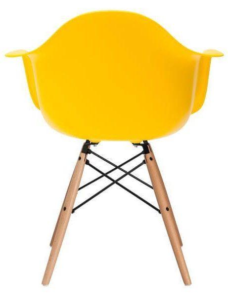 ceremony wood armchair yellow 461x600