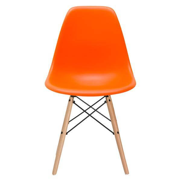 ceremony wood chair orange 2