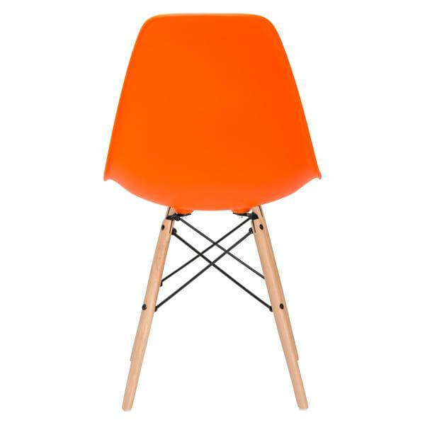 ceremony wood chair orange 4