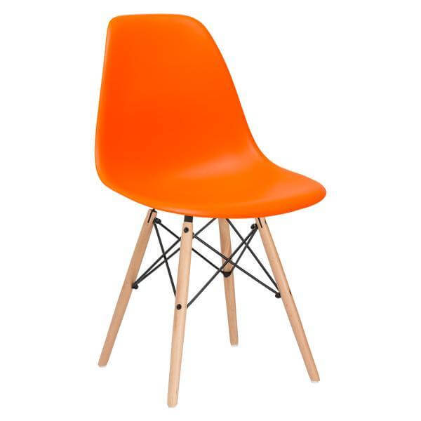 ceremony wood chair orange