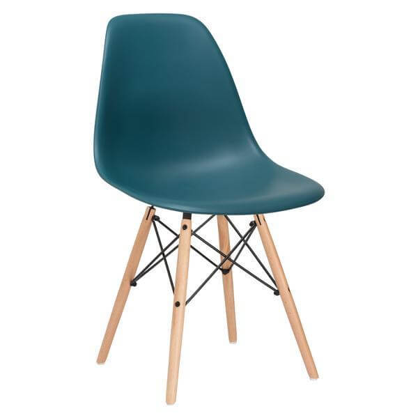 ceremony wood chair turquoise