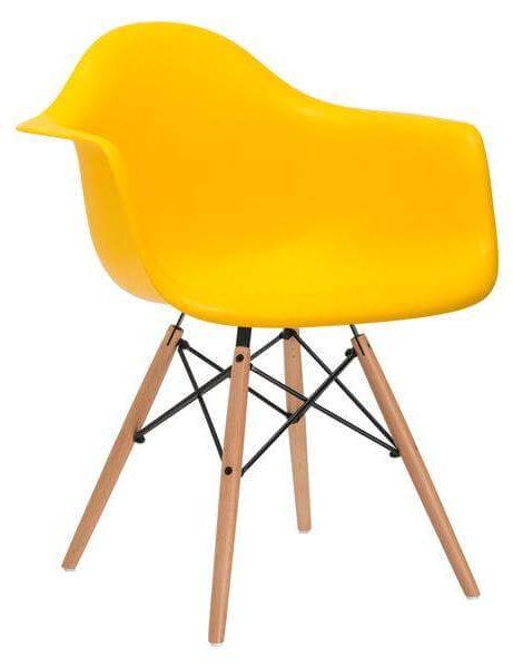 eames yellow armchair 461x600
