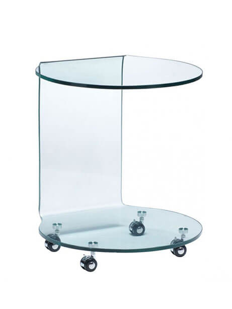 glass rolling cart 1