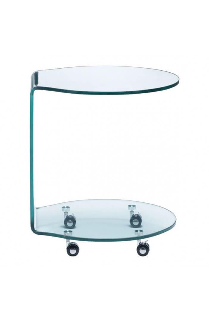 glass rolling cart