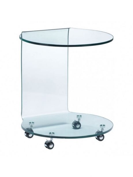 glass rolling side table 461x614