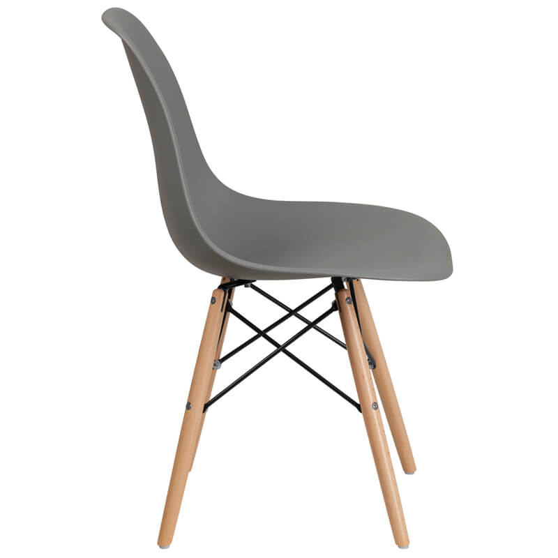 grey mid century chair