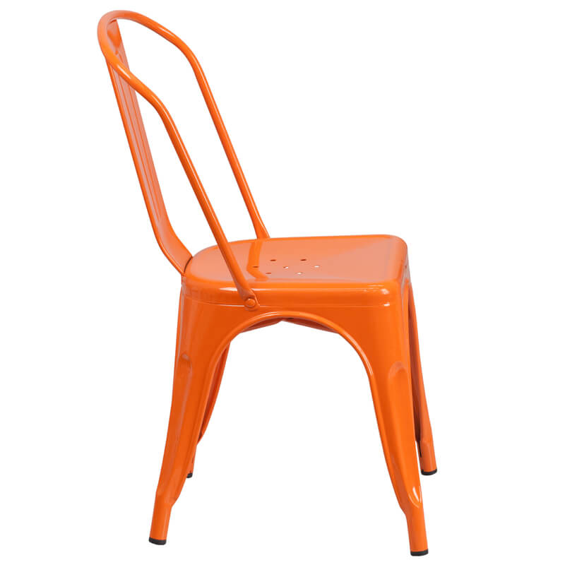 metal chair orange