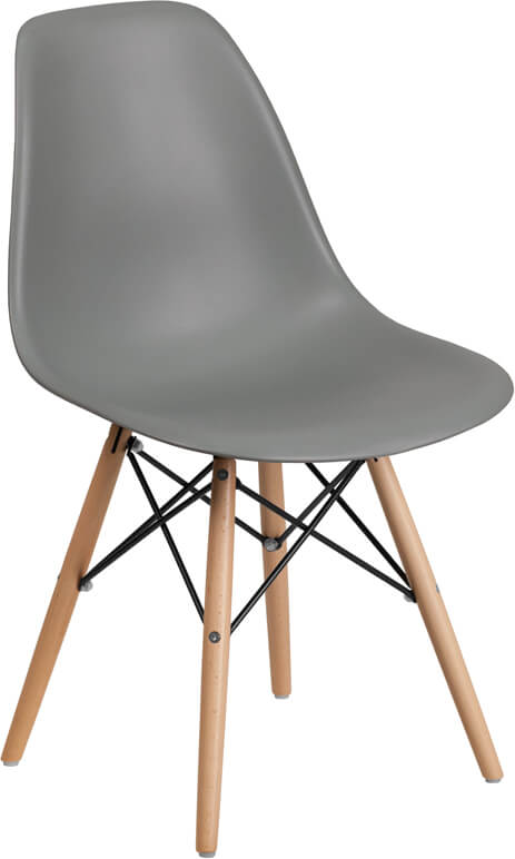 mid century modern gray dining chair