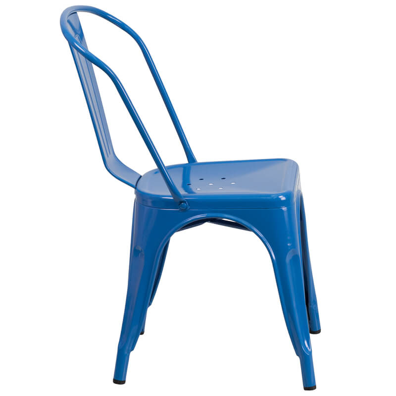 modern blue cafe chair