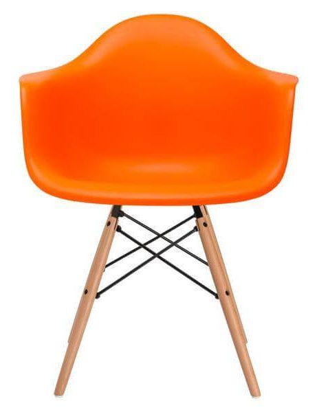 modern orange eames chair 461x600