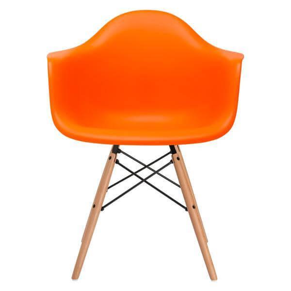 modern orange eames chair