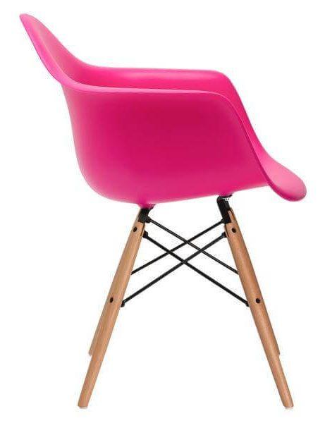 modern pink wood chair 461x600