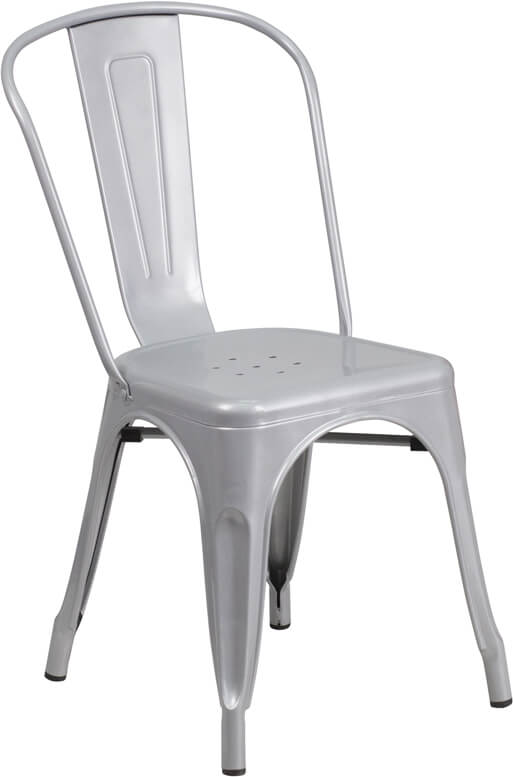 modern restaurant chair silver