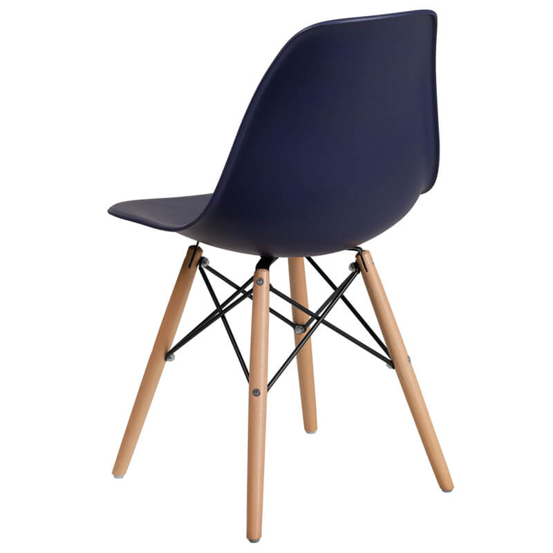 navy blue mid century eames chair