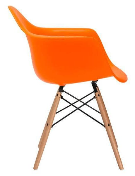 orange armchair modern 461x600