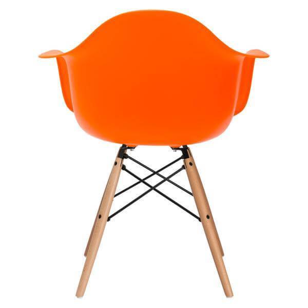 orange eames chair