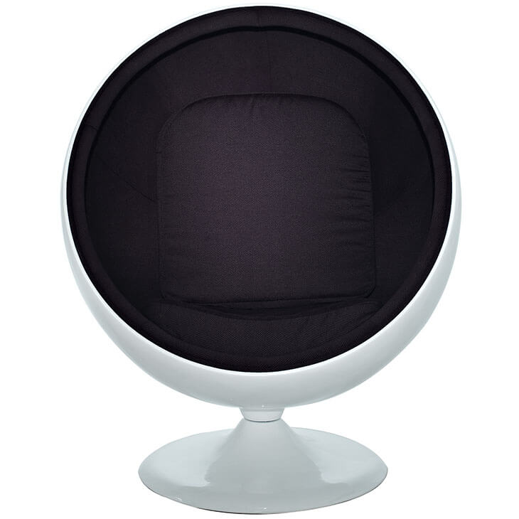 private space ball chair black 2