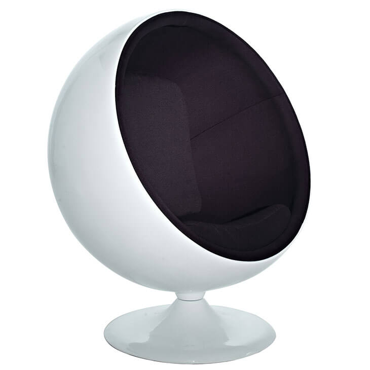 private space ball chair black
