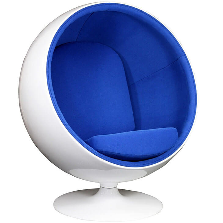 private space ball chair blue