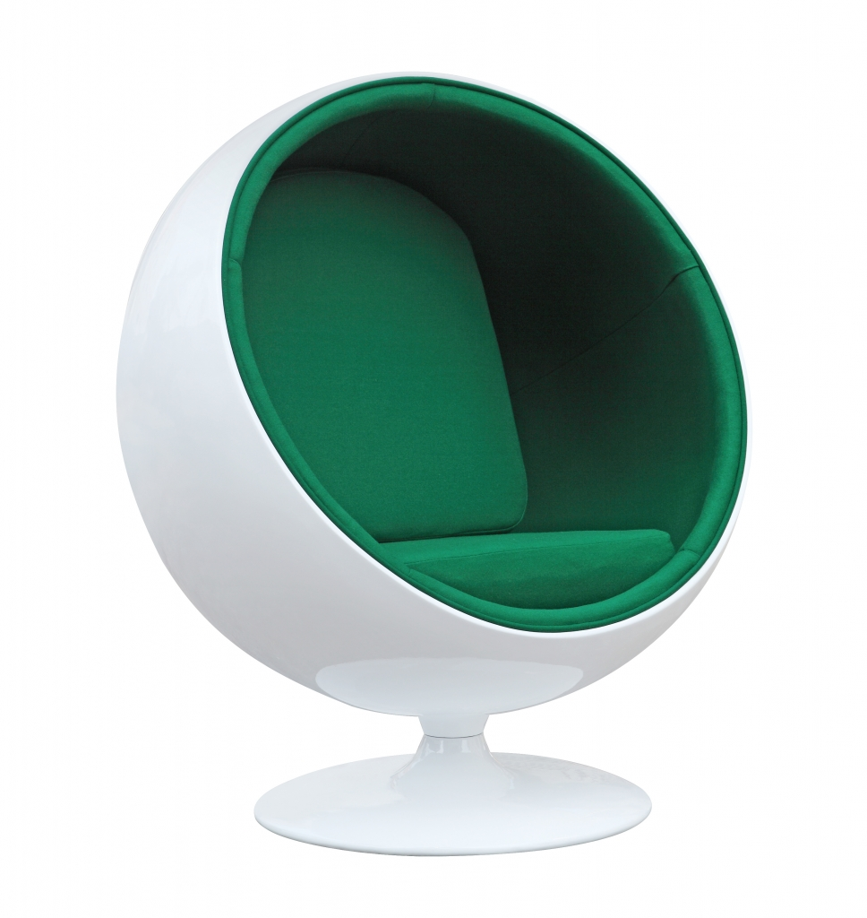 private space ball chair green 3