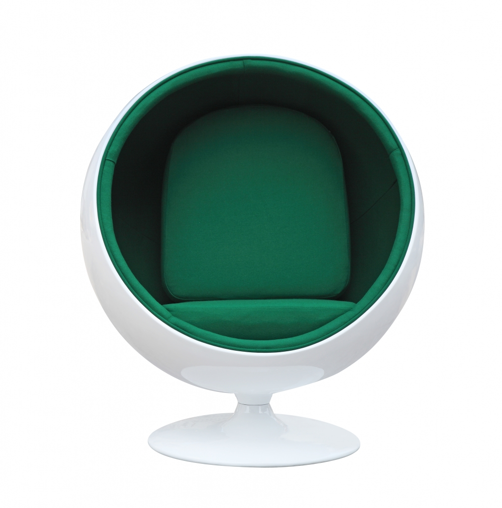 private space ball chair green