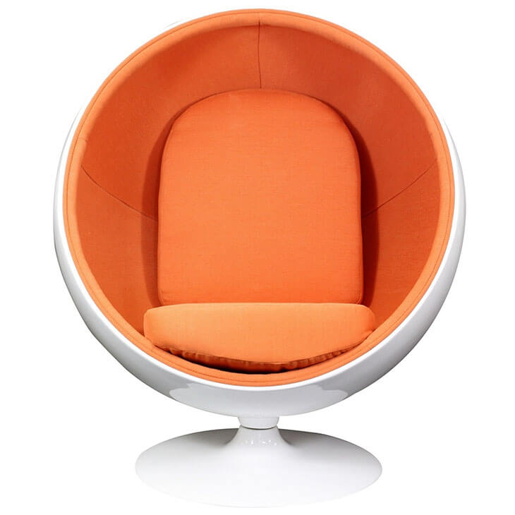 private space ball chair orange 2